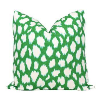 kelly green pillow